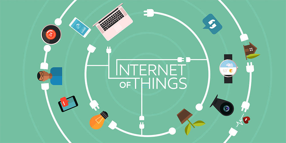 Illustrasjon av internet of things