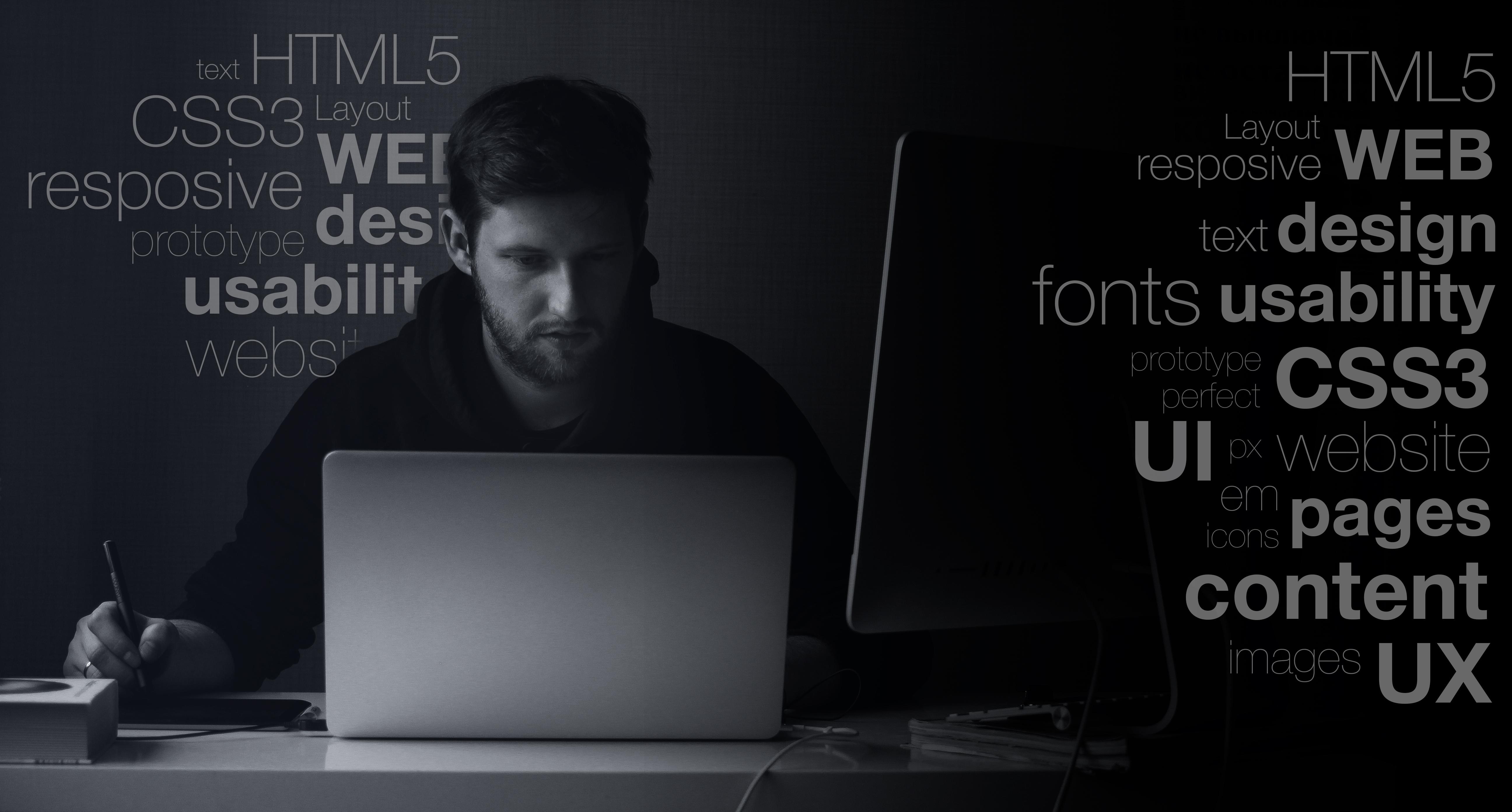 Forsidebilde - Web designer på jobb