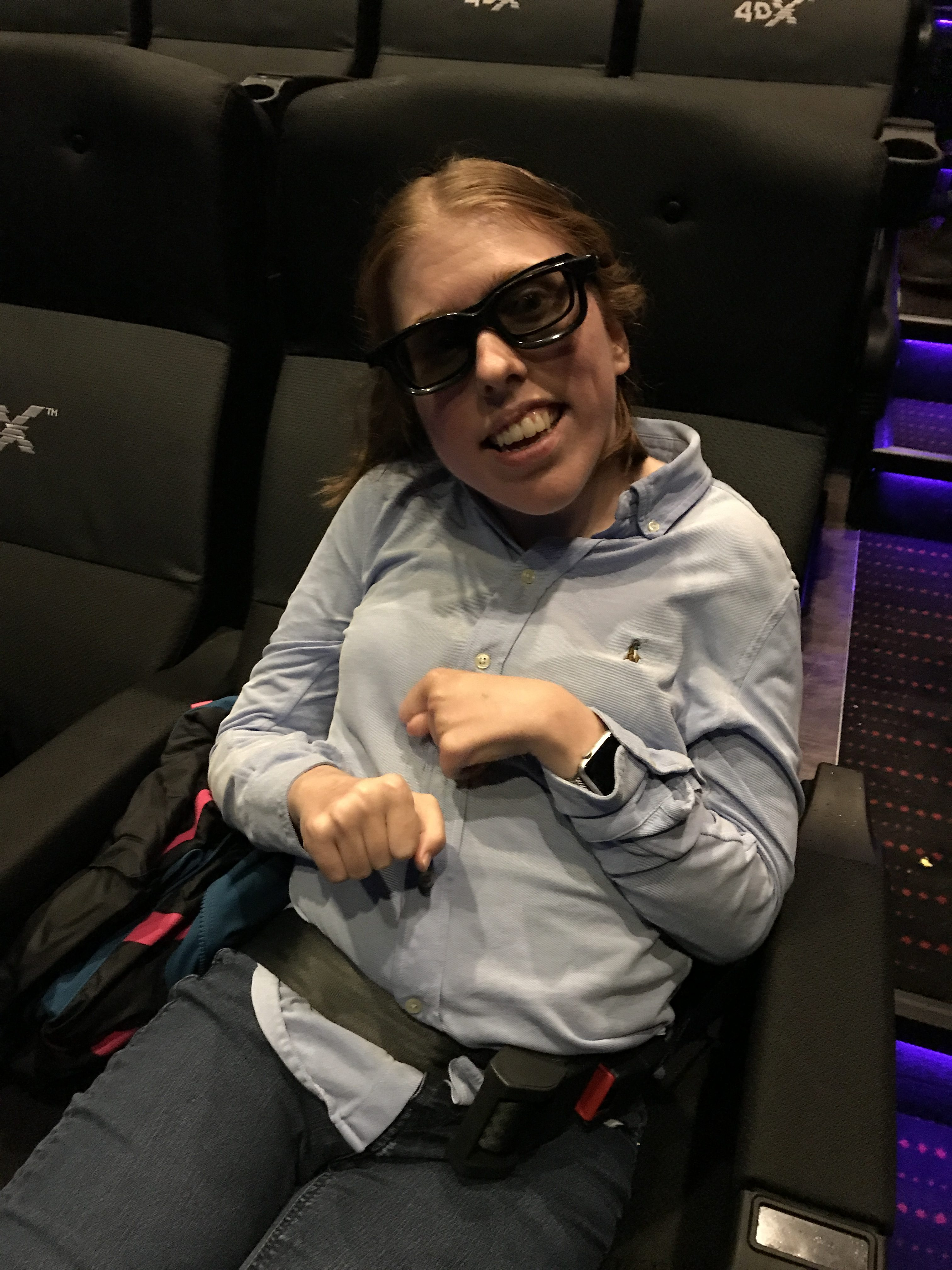 4D kino sete og plakat med effekter