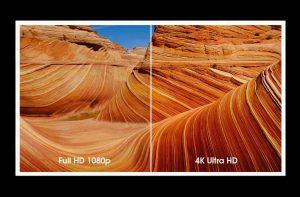 Sammenligning HD og 4K Ultra