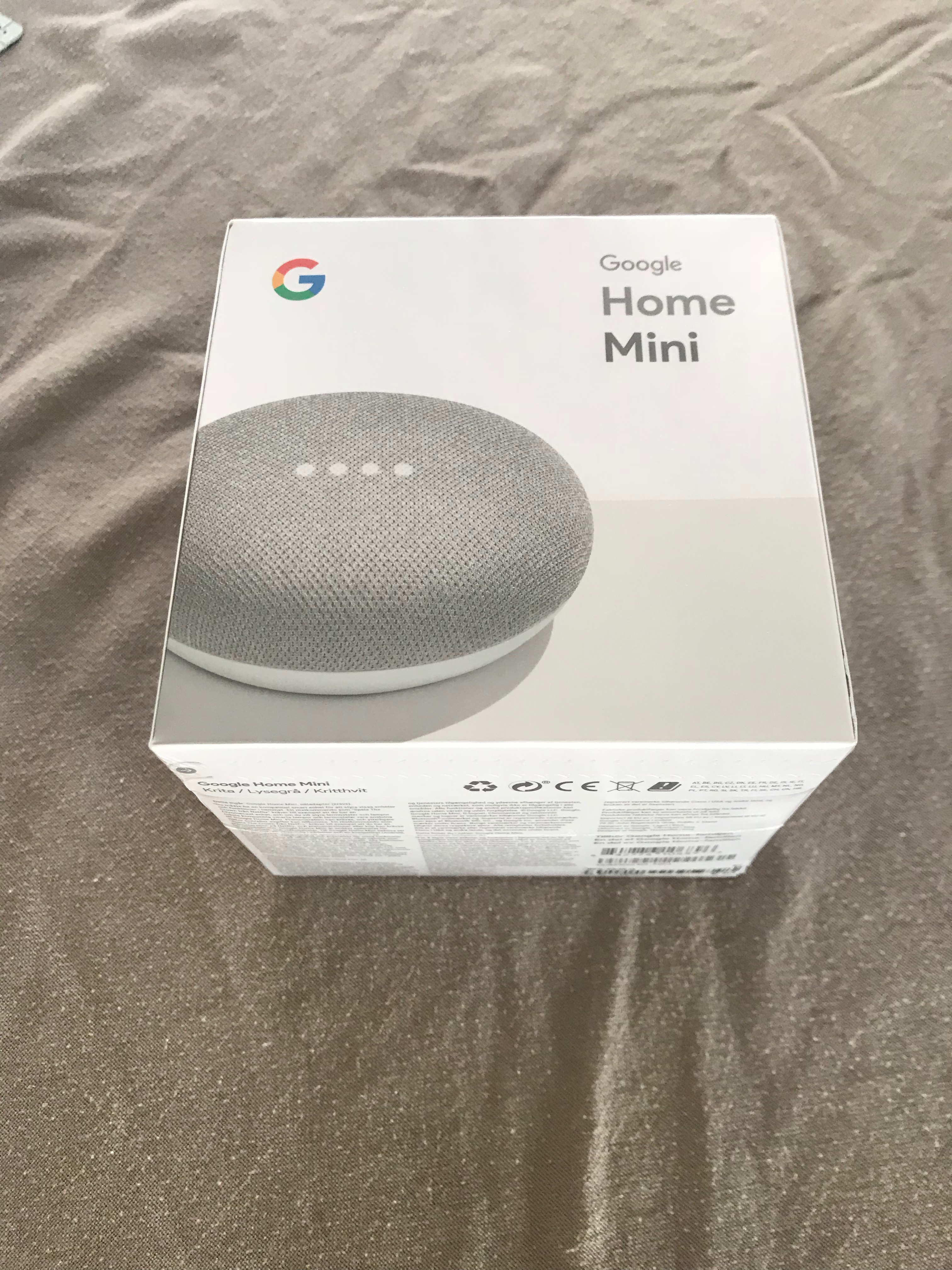 Google Home Mini - boks