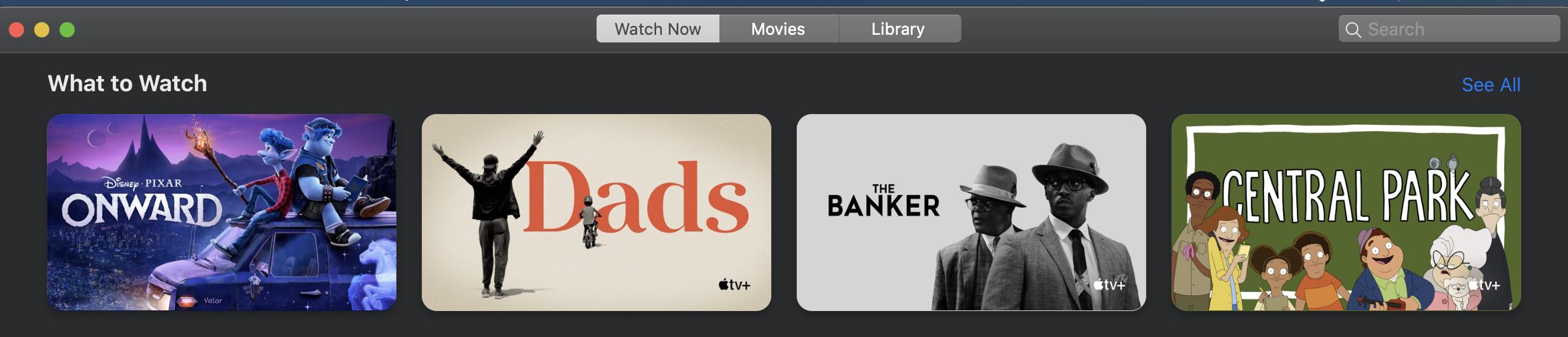 Forsidebilde - Viser innhold på Apple TV appen (både Disney og Apple TV+)