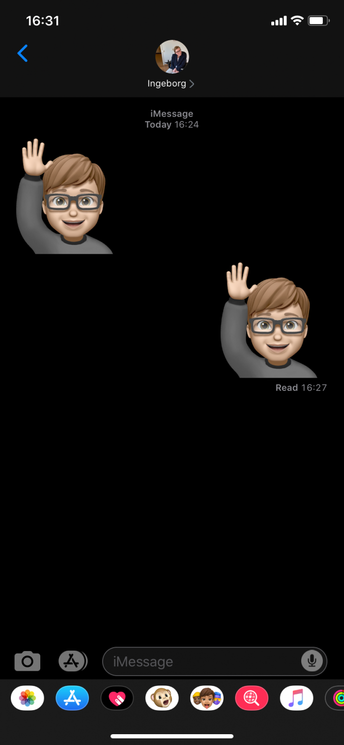 Memoji stickers iMessage
