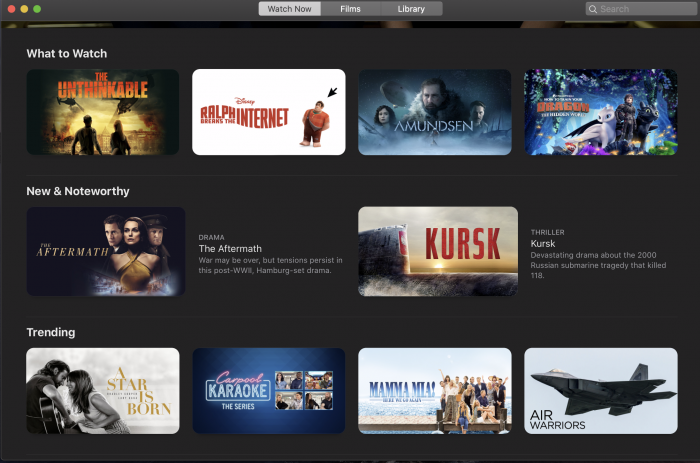 Apple TV app på Mac 2