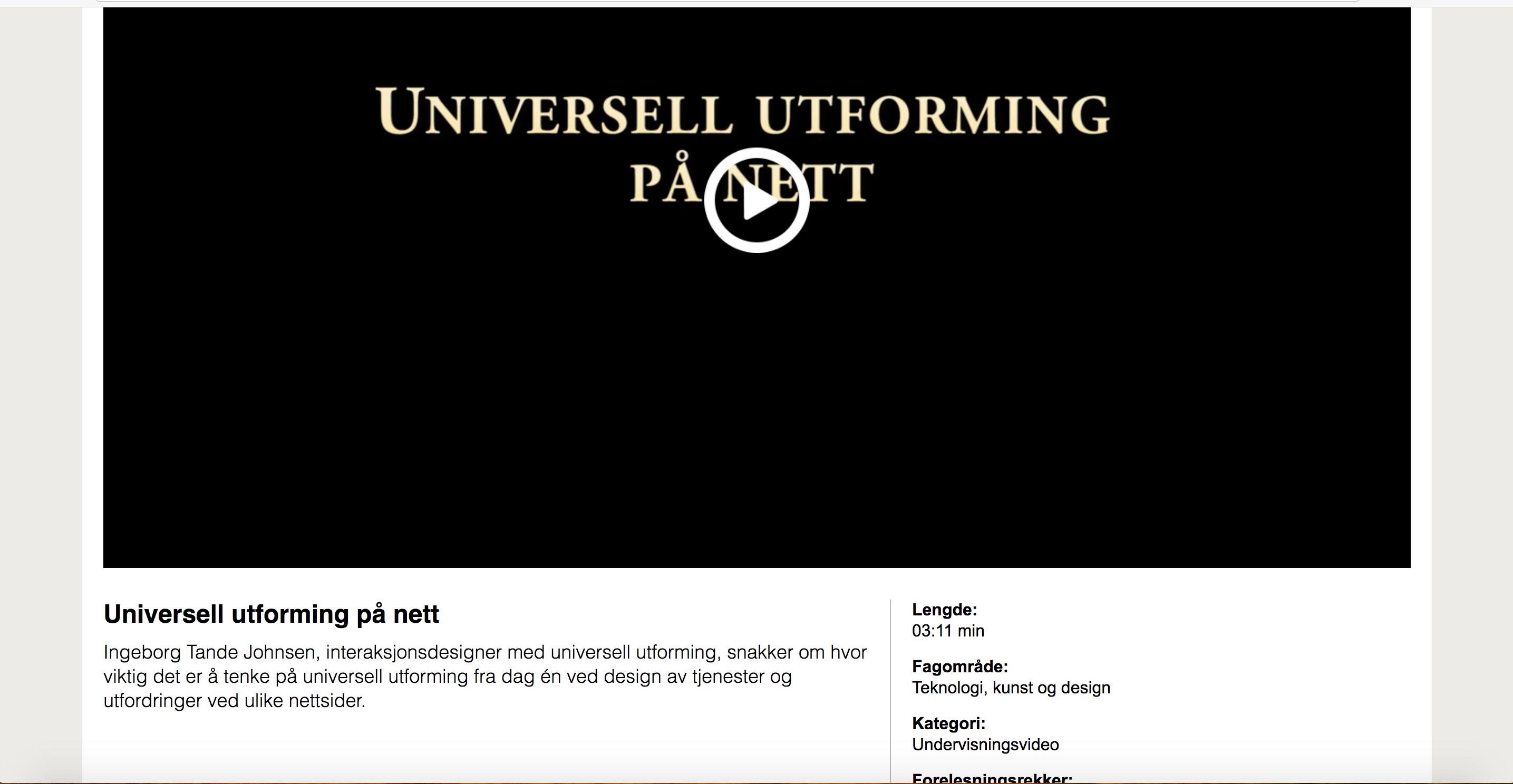 Forsidebilde - Universell utforming