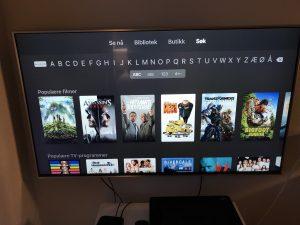 Søkefunksjon Apple TV App